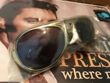 ELVIS Presley Licensed CLASSIC TCB THE KING Sunglasses GOLD NWT