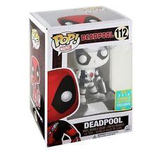 "SCE Exclusivo MARVEL Deadpool Thumbs Up Blanco y negro 3.75"" FIGURA DE VINILO"
