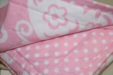 NEW Pottery Barn Kids LOFT STANDARD SHAM Quilted Butterfly Pink White Polka DOT
