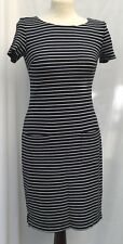 Per Una Marks and Spencers M&S Ladies Navy Blue White Striped Dress  Size 8