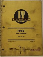 FORD 8000 TRACTOR  I&T SERVICE SHOP MANUAL GOOD MANUAL SOLID
