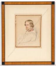 "Leopold Fischer ""Dr. Alfred Julius Becher"", important portrait!!, ca. 1840"