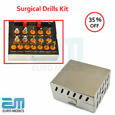 Dental Surgical Drills Kit Dentistry Instrument Ratchet Hex Drivers Parallel Pin