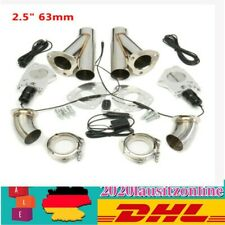 """2.5"""" 63mm Electric Control Kit Dual Exhaust Catback Downpipe Cutout Valve System"""