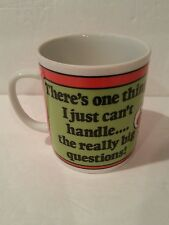 "Peanuts Gang Coffee Mug ""There's one thing I can't handle.. really big questions"