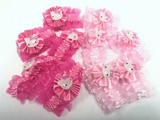 10pcs Rosa Hello Kitty Elastico Capelli Bande Pony Con Fiocco Accessorio party bag