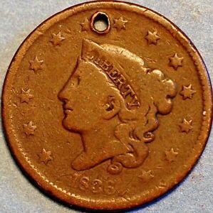 1 Cent 1836 Liberty Head / Matron Head Type 1 United States KM# 45.1 P418
