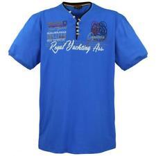 Lavecchia T-Shirt Freizeit Hemd V-Neck Übergrößen Herren Royal Blau XXXXXL 5XL