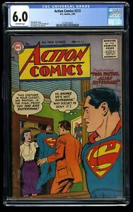 Action Comics #213 CGC FN 6.0 Off White Paul Paxton! DC Superman