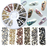 Nails Rhinestones AB Rainbow Crystal Manicure Decorations 3D Nail Gems Stone New