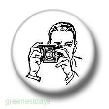 Paparazzi Camera Man 1 Inch / 25mm Pin Button Badge Photographer Photography