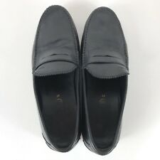 Geox Mens Shoes Penny Loafers Black Size 13 Euro 47 US Respira Casual Leather