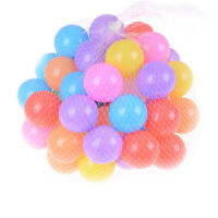 10x Colorful Soft Plastic Ocean Ball 55mm Safty Secure Baby Kid Pit Toy Swim LY