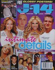 JUSTIN TIMBERLAKE  SHAKIRA  EMINEM August 2002 J-14 Magazine BRITNEY SPEARS