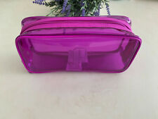 Clinique Skincare Makeup Shopping Shoulder Travel Small Bag Plastic Case Purple