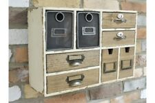 Vintage Industrial Style Wall Cabinet - Storage Shelving Unit Small Wall Chest