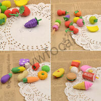 1x Creative Fruit Fast Food Vegetable Rubber Eraser Kid Pencil Eraser Stationery