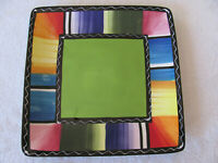 Certified International Nancy Green-Serape- Square Salad Plate- 9""