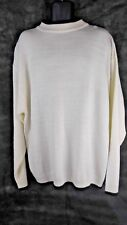 Men's 3XL Cube Acrylic Ivory & Brown Sweater Super Soft & Comfortable!