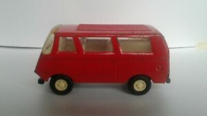 1 x Vintage TONKA - Pressed Metal - 1970's Red Delivery Van - Used - Playworn