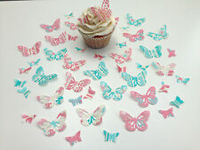 48 Edible Catherine Collection Butterflies Pre Cut Wafer Cupcake Toppers