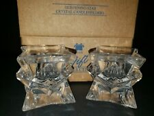 Vintage Avon Glistening Star Lead Taper Candle Holders Set Nib
