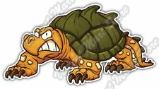 """Cute Angry Snapping Turtle Funny Cartoon Car Bumper Vinyl Sticker Decal 6""""X3"""""""