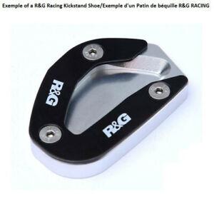 4450610 - Patin de béquille latérale R&G RACING argent Triumph Bonneville Bobber
