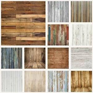 Vintage Wood Vinyl Photography Backdrops Photo Studio Background Wall Art Props