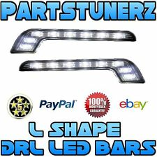CADILLAC LUXURY STYLE L SHAPE 8 SMD LED DRL DAYTIME RUNNING LIGHTS BAR FOG LIGHT