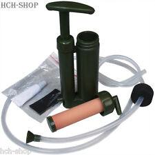 MFH Mini Wasseraufbereiter Mikrofilter Wasserreiniger oliv 13,8 x 5,7 x 2,8 cm