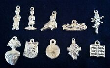 """Mexican Milagros Charms Silver Color Lot of 10 """"what you see is what you get""""A24"""