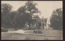 REAL PHOTO Postcard FREEDOM PA  Large 2 Story Stone Family House/Home 1910's?