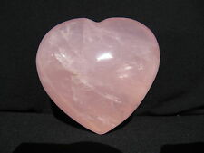 "3.8"" STAR ROSE QUARTZ PUFFY HEART BIG CRYSTAL POLISHED GEMSTONE PAPERWEIGHT"