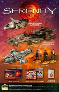 Serenity Print Ad: Inara's Shuttle, Reaver Ship, Firefly: Great Original Ad!