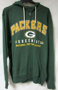 "Green Bay Packers Men Size 25.5"" (pit to pit) Full Zip Hoodie Sweatshirt A1 3123"