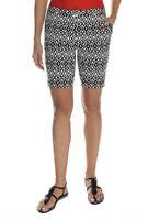 MARIO SERRANI ITALY Comfort Stretch Shorts w/Tummy Control Womens 6 Black/White