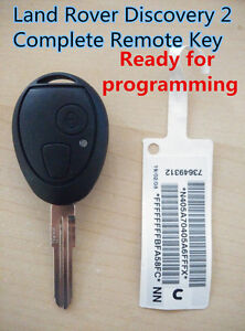 LAND ROVER Discovery 2 complete Remote Key Ready for programming 433mhz