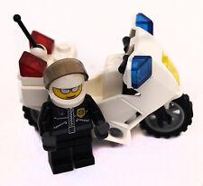 LEGO polizia Bianco Moto con Rider
