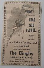 1964 The Dinghy Men's Sportswear - Atlantic City New Jersey Advertisement
