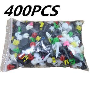 400PCS Car Mixed Door Trim Panel Clip Auto Bumper Rivet Retainer Push Random