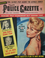 National Police Gazette May 1960 Brigitte Bardot - Boxing - Tommy Manville Wives