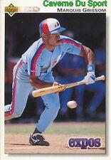 455 MARQUIS GRISSOM MONTREAL EXPOS BASEBALL CARD UPPER DECK 1992