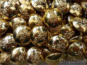 """British QC Large Staybrite Buttons 1"""" Royal Army Education Corps RAEC Approx 60"""