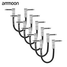 6pcs 0.5ft Patch Cable 1/4'' Right Angle for Guitar Effect Pedal Hot Gift R3Y0