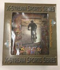 """Rivers Edge Mountain Bike Cycling Photo Picture Frame. 4""""x6"""" Hand Painted."""