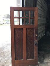 Mar 299 antique oak eight light beveled glass entrance door 36 x 80