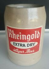 Vintage Rheingold Extra Dry Lager Beer 12 oz Stein / Tankard Made in Germany