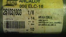 "ESAB 251031603 Arcaloy 308ELC stainless steel Stick Welding Rod 1/8"" x 14"" 10#"