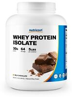 Nutricost Whey Protein Isolate (Chocolate) 5 LBS -Delicious, Top Quality Protein
